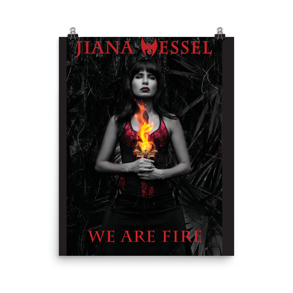 If you love Fire and empowerment, then this poster will help bring that statement into your home! The We Are Fire! poster by Jiana Wessel.
