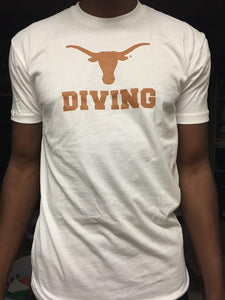 White Longhorn Diving Tee