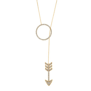 SHOT THROUGH THE HEART LARIAT NECKLACE