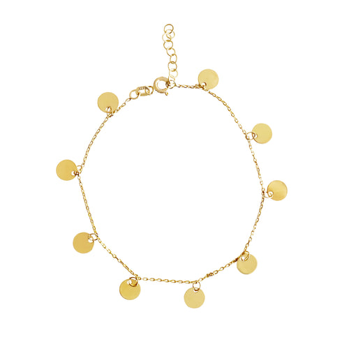 Pulsera Eclipse Multi Dorada Brillante