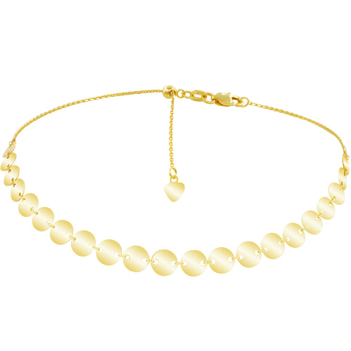 GOLDEN ECLIPSE ADJUSTABLE CHOKER GOLD