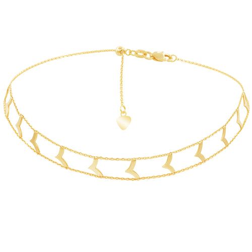 GOLD ARROW ADJUSTABLE CHOKER GOLD