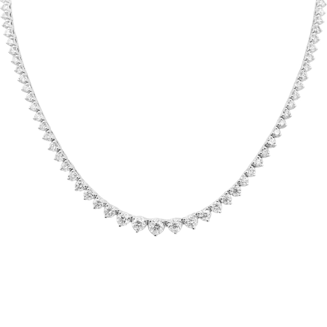 Hepburn Riviera Diamond Tennis Necklace