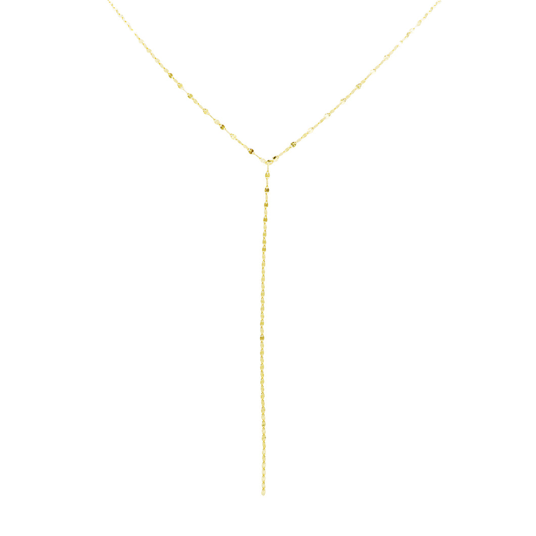 Shimmering Lariat Chain Necklace