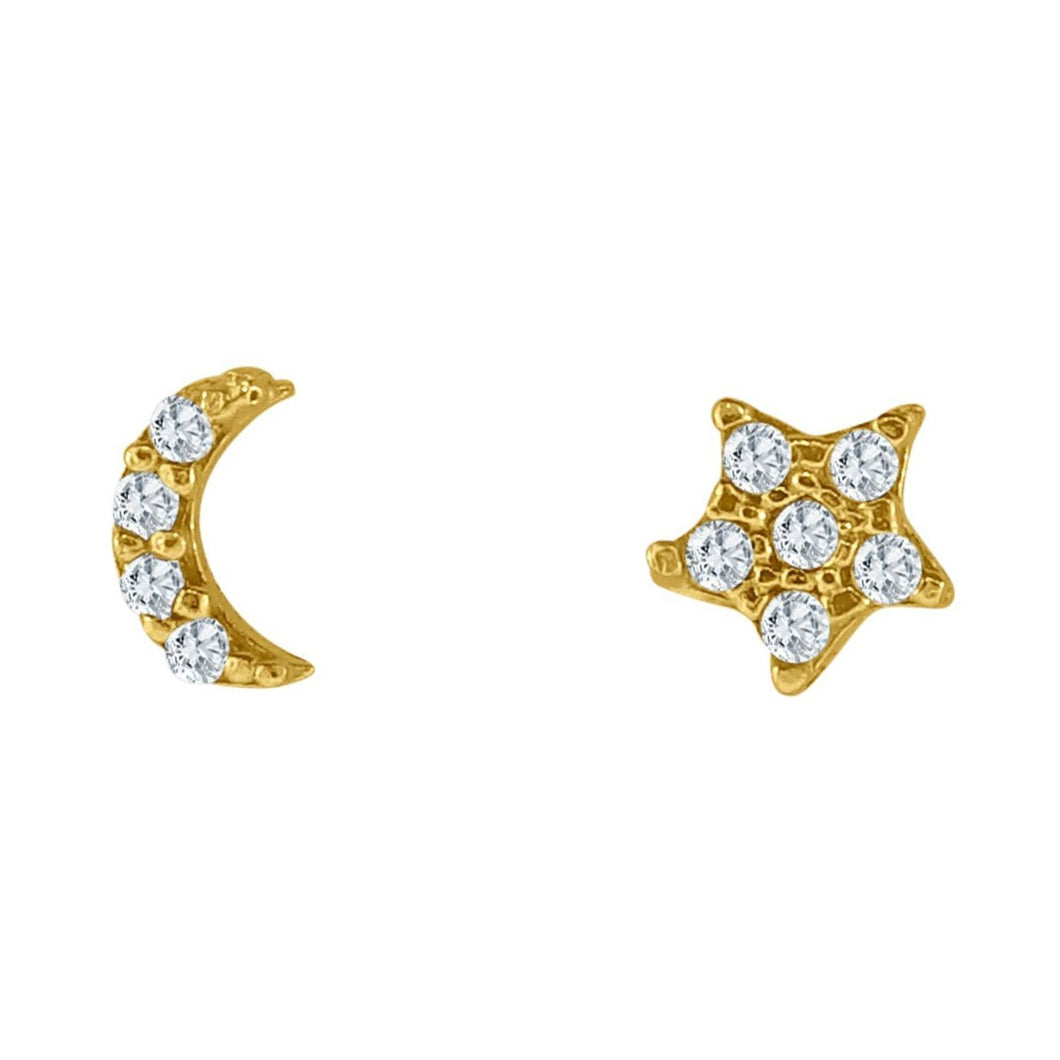 MIDNIGHT MOOD PAVE STUD EARRINGS