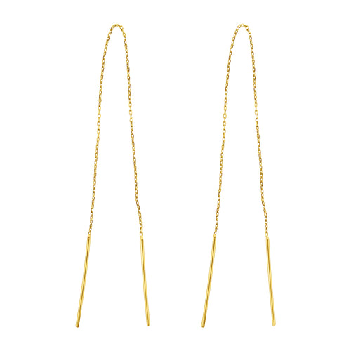 INFINITY CHAIN THREADER EARRINGS