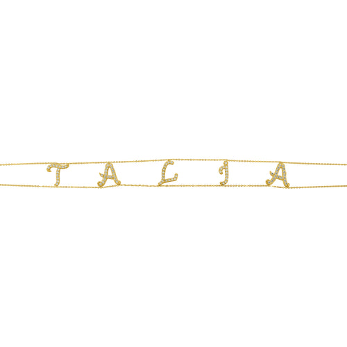 BESPOKE PERSONALISED INITIAL NAME CHOKER, GOLD