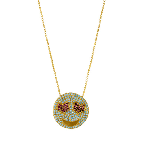 LOVED UP TURQUOISE NECKLACE GOLD