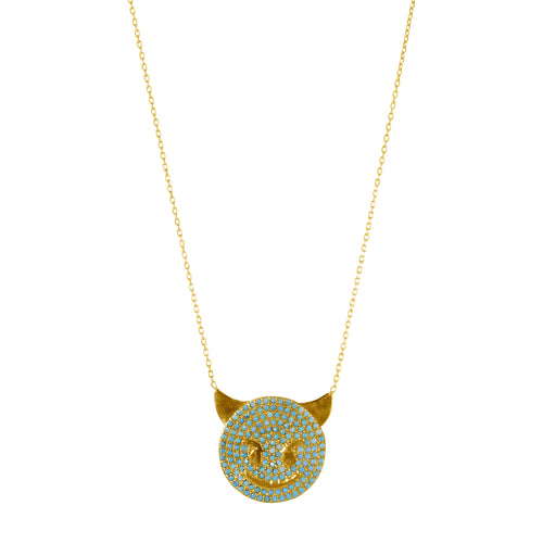 TRUST ISSUES TURQUOISE NECKLACE GOLD