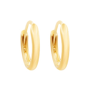 Mirror Polished Gold Gold Eternity Sleeper Hoops
