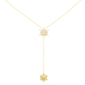 SUPERNOVA LARIAT NECKLACE, GOLD