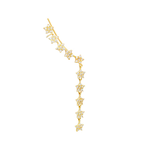 Shooting Star Bar Earring, ear cuff, gold