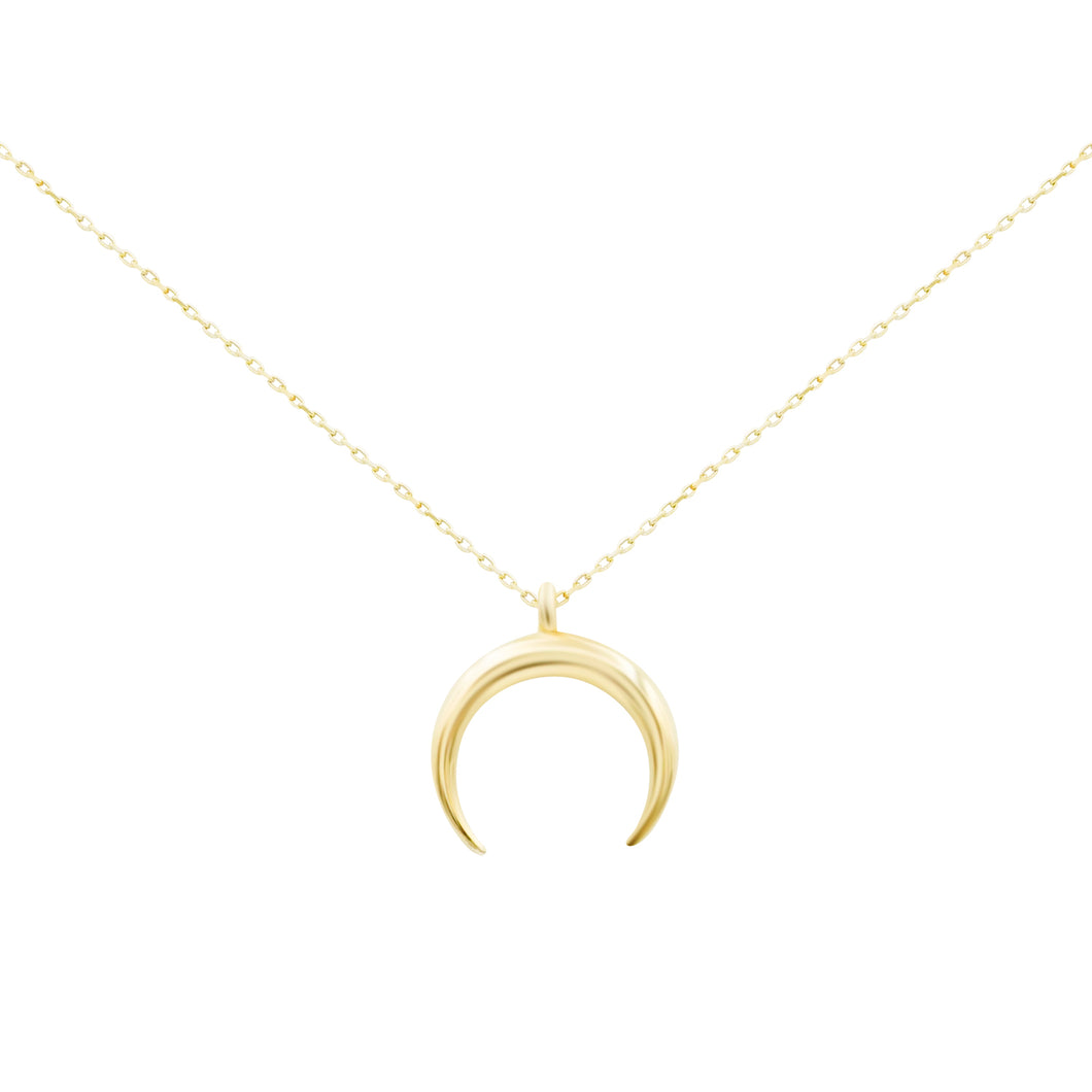 Gold Horn Choker Necklace
