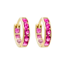 HOT PINK PAVE ETERNITY HOOPS