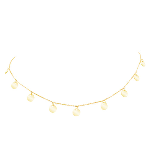 Shimmering Multi Golden Eclipse Choker Necklace- Adjustable