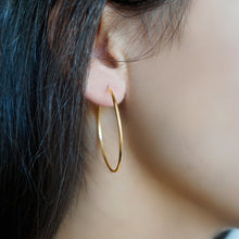 Skinny Gold Hoop Earrings Small