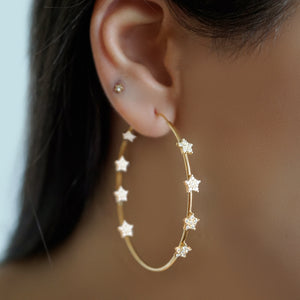 TWINKLE TWINKLE LARGE HOOP EARRINGS