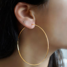 Skinny Gold Hoop Earrings Large