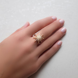 SUPERNOVA RING, GOLD ONLINE EXCLUSIVE
