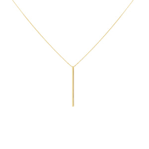DROP ME A LINE NECKLACE, GOLD