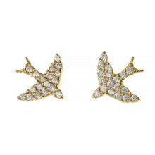FLY ME TO MOON PAVE EARRINGS