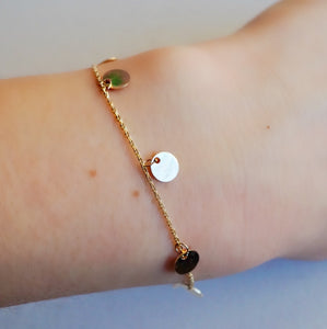 Shimmering Multi Golden Eclipse Bracelet
