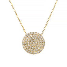 GOLDEN ECLIPSE PAVÉ NECKLACE, GOLD