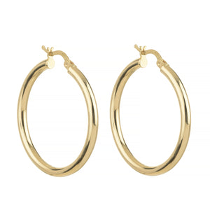 KHALEESI ROUNDED HOOPED EARRINGS, GOLD