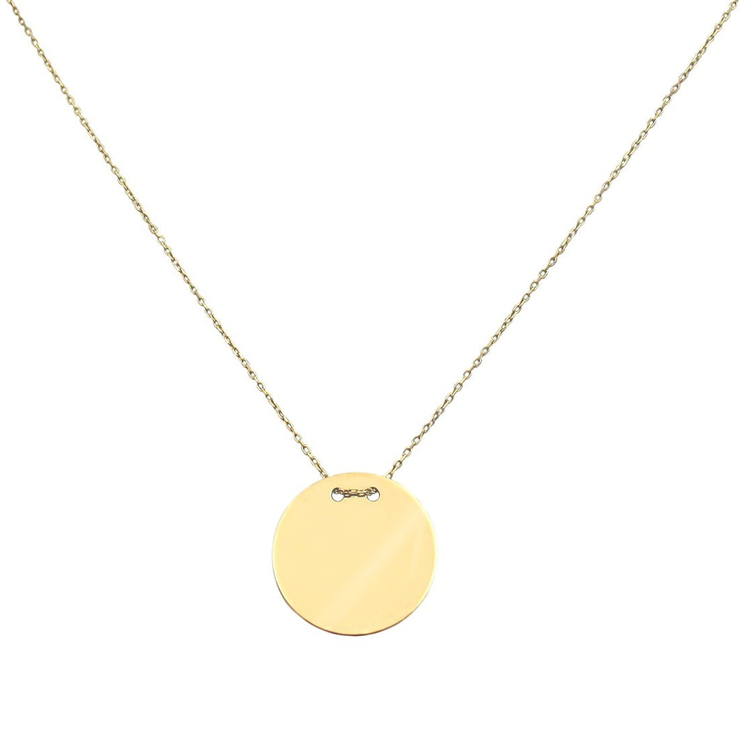 PERSONALISED GOLDEN ECLIPSE NECKLACE GOLD