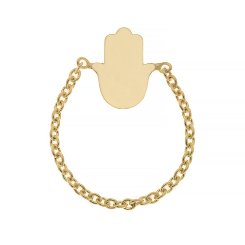 HAMSA CHAIN RING, GOLD ONLINE EXCLUSIVE