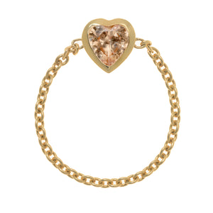LOVE BY THE YARD CHAIN RING, CHAMPAGNE