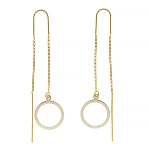 THREAD THROUGH CIRCLE EARRINGS