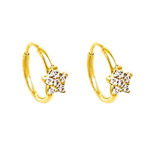TWINKLE TWINKLE SLEEPER HOOP EARRINGS