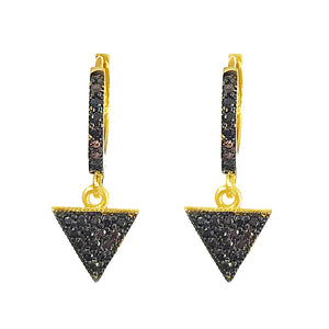 ILLUMINATI BLACK SLEEPER HOOP EARRINGS