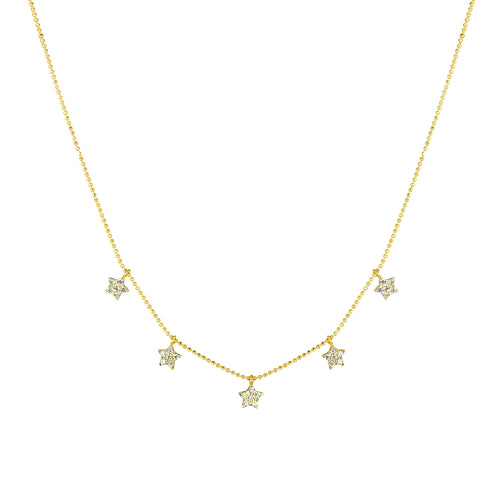 TWINKLE TWINKLE CHARM NECKLACE YELLOW GOLD