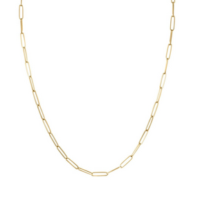 Midi Long Link Paperclip Chain Necklace