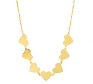 Love By The Yard Gold Floating Heart Necklace