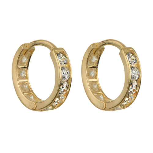 PAVÉ ETERNITY EARRINGS, GOLD