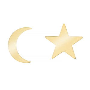 MIDNIGHT MOOD EARRINGS, GOLD