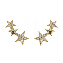 WISH UPON A SHOOTING STAR EARRINGS, GOLD