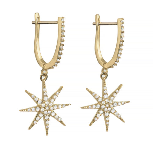 SUPERNOVA EARRINGS, GOLD