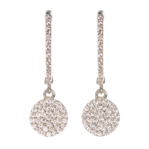 GOLDEN ECLIPSE PAVÉ EARRINGS, WHITE GOLD