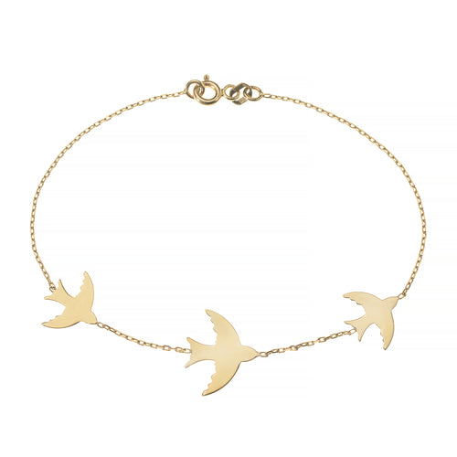 PULSERA FLY ME TO THE MOON, ORO