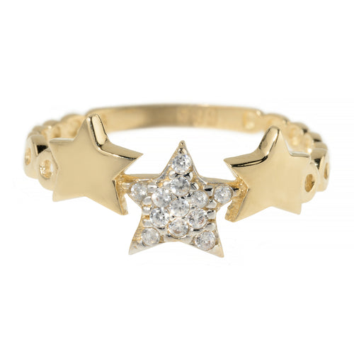 WISH UPON A SHOOTING STAR RING, GOLD