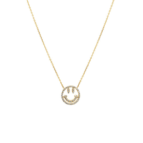 WHY SO SERIOUS NECKLACE, GOLD