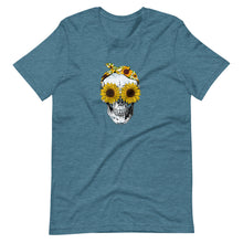 Sunflower Skull Tee Shirt (6149695176859)
