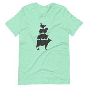 Cow, Pig, Sheep, and Chicken Tee Shirt (6149679939739)