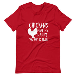 Chickens Make Me Happy Tee Shirt (6149677842587)