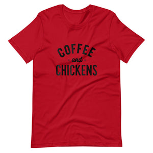Coffee And Chickens Tee Shirt (6161968529563)