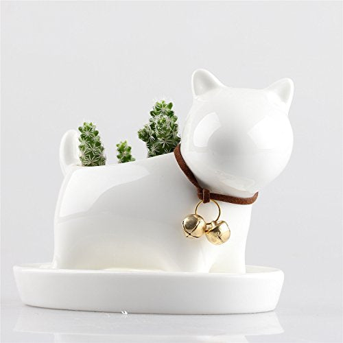 Westie Ceramic Planter from ObJae